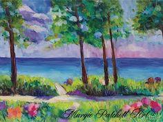 Impressionist Art, Inspiration, Floral Art, Painting, Seaside, Art, Original Art