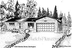 Sketch of House: 1300 Kilbride Street, Burlington