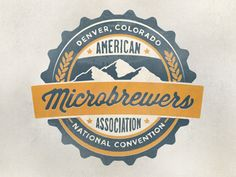 """Zach Roszczewski    Hand drawn Logo for the national convention of the """"American Microbrewers Assoication"""" in Denver, Colorado."""