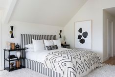grayscale master bedroom