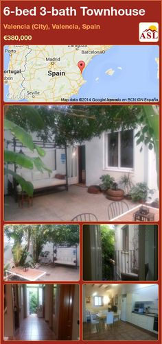 Townhouse for Sale in Valencia (City), Valencia, Spain with 6 bedrooms, 3 bathrooms - A Spanish Life Valencia City, Valencia Spain, Double Bedroom, Two Bedroom, Small Terrace, Shower Cubicles, Central Heating, Open Plan Living, Storage Spaces