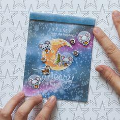 Friends make the holiday @akossakovskaya #cardmaking #distressinks #mamaelephant