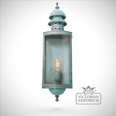 Downing Street Brass wall lantern - vert - Outdoor Wall Lights