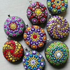 Mandala stones pendants. Coming soom ...