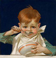 Kellogs kid 1915-1917 Oil on canvas. http://hagginmuseum.org/LeyendeckerGallery