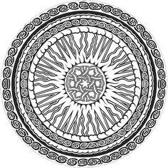 ☮ American Hippie Art ~ Coloring Page .. Mandala
