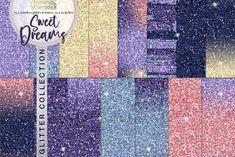 Glitter Background, Texture Design, Sweet Dreams, Design Bundles, Tropical, Clip Art, Celestial, Digital Papers, Crafts