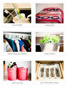 chore cards/pics