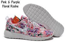 Custom Bling Roshe Shoes- Pink & Purple Floral by BlingKicksandBowTies on Etsy