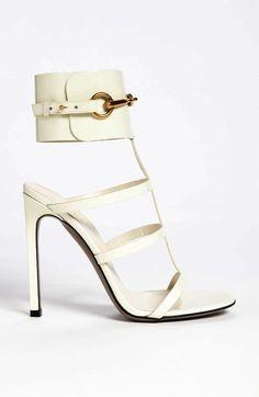 White Gucci sandals