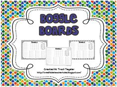 Ten Boggle Boards