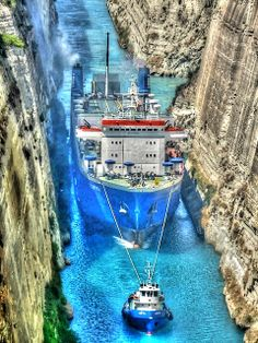 New Wonderful Photos: Corinth Canal, Greece Beautiful Places To Visit, Great Places, Places To See, Amazing Places, Amazing Photos, Mykonos, Corinth Canal, Places In Greece, Imagines