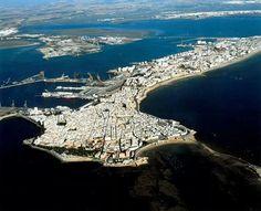 Cádiz, vista aérea.