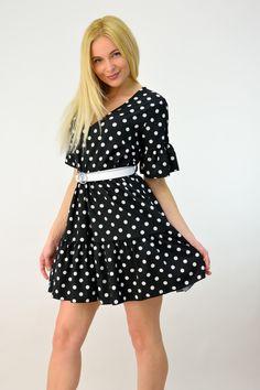Γυναικείο φόρεμα μίνι πουά | POTRE Vintage, Style, Fashion, Swag, Moda, Fashion Styles, Vintage Comics, Fashion Illustrations, Outfits
