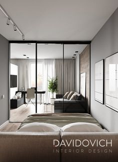 House Interiors, Apartments, Sweet Home, Gardens, Interior Design, Studio, Bedroom, Projects, Furniture