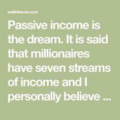 Passive income is the dream. It is said that millionaires have seven streams of income and I personally believe income streams free you from the shackles Investing In Shares, Colgate Palmolive, Dividend Investing, Dividend Stocks, Financial Budget, Capital Gain, Income Streams, Real Estate Investing, Passive Income