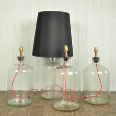Vintage Bottle Table Lamps - Vintage Lighting - Original House