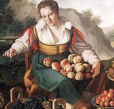 Vincenzo Campi's The Fruit Seller (1580's)  love the collar