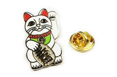 #Repost @wearablecollectibles Beckoning Cat Lapel Pin - 1 inch wide. Polished Gold plating with hard enamel fill. $10. DM if interested or buy from etsy. Link in profile. Followers appreciated. #love #beckoningcat #luckycharm #manekineko #maneki #likeme #catcommunity #jewelry #catcollectibles #instagramers #wearablecollectibles #geekwear #geekgifts #enamelpin #pinoftheday #lapelpin #success #abundantlife