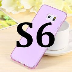 Candy Color Crystal Clear Flip Case For Samsung Galaxy S6 G9200 S6 Edge G9250 S6 Edge Plus G928 Slim Full Transparent TPU Cover