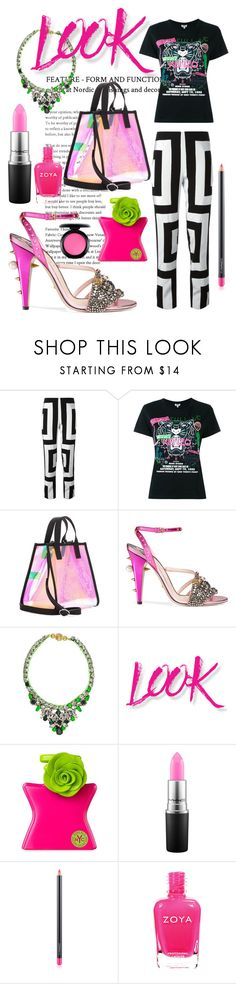 """Look Kenzo"" by fabianajuan ❤ liked on Polyvore featuring Kenzo, Gucci, Shourouk, NYX, Bond No. 9 and MAC Cosmetics"