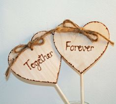 Butterfly Cake Topper, Rustic Wedding Cake Topper , Better Together