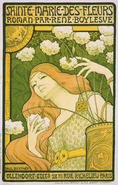 Sainte Marie des Fleurs, roman par René Boylesvé. Ollendorf Editions, 28bis rue Richelieu, Paris. cover by Paul Berthon
