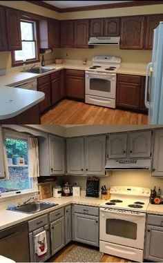 Uplifting Kitchen Remodeling Choosing Your New Kitchen Cabinets Ideas. Delightful Kitchen Remodeling Choosing Your New Kitchen Cabinets Ideas. Refacing Kitchen Cabinets, Diy Cabinets, Kitchen Redo, Kitchen Ideas, Cupboards, Chalk Paint Kitchen Cabinets, Kitchen Countertops, 10x10 Kitchen, Kitchen Taps