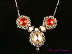 Handmade Elegant Crystal Necklace Swarovski by MargeleEtcetera
