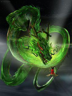 Shenron by telthona on DeviantArt Dragon Ball, Dragon Z, Fantasy Dragon, Dragon Images, Dragon Pictures, Dark Fantasy Art, Fantasy Artwork, Fantasy Creatures, Mythical Creatures