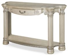 Monte Carlo II Silver Pearl Console Table traditional side tables and accent tables