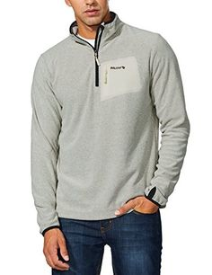 28b12ebd4bc  13.14 - Baleaf Men s Fleece Pullover Jacket Zip Pocket Sport Sweater  Sweatshirt Mens Fleece Jacket