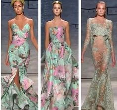 #NYFW: Michael Costello's runway show featured sheer, sexy silhouettes and exaggerated details…& we loved every gown
