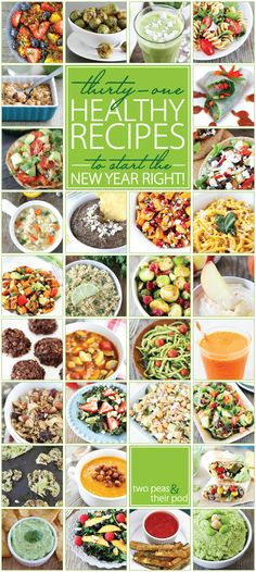 31 Healthy Recipes to Start 2014 Right on http://twopeasandtheirpo... I want to make them all!