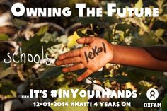From 10 to 15  January, Haitians and people around the world will come together to tell us what owning the future means for #Haiti and how they can help i#inyourhands. Check out blogs, messages, and more from Oxfam. Take action and change your Facebook cover or your profile photo with this pix!
