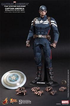 Marvel Captain America - Stealth S.T.R.I.K.E. Suit Sixth Sca | Sideshow Collectibles