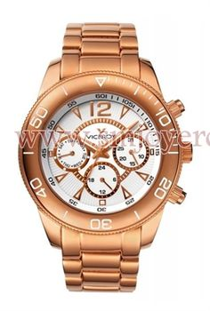 Viceroy Women's Rose Gold Ion-Plated Stainless Steel Dual Time Watch by Viceroy -- Awesome products selected by Anna Churchill Pandora, Online Watch Store, Watch Companies, Stainless Steel Watch, Michael Kors Watch, Gold Watch, Chronograph, Rolex Watches, Plating