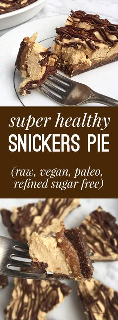 Raw, gluten free, vegan, paleo, refined sugar free and AMAZING tasting! The caramel layer is ridiculous! Snickers Pie.