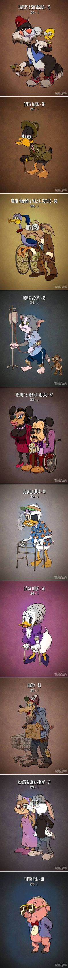 If Cartoon Characters Looked Their Actual Age