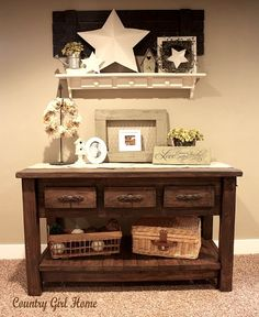 Something like this for the entry way or a sit down bench....