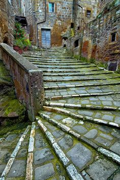 Ancient Stairs of Pitigliano, Tuscany, Italy