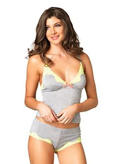 6c053a84c5 Leg Avenue Women s Seraphina By Jersey Cami and Short Set