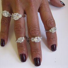 A few favorite engagement rings from Jeffrey Daniels Unique Designs.