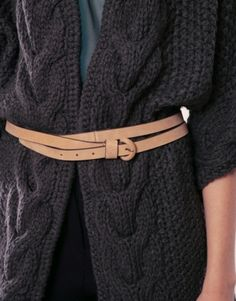 Love the belt on the sweater, but mostly just the belt.