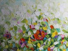 Pintura al óleo pintura al óleo abstracta moderna pintura