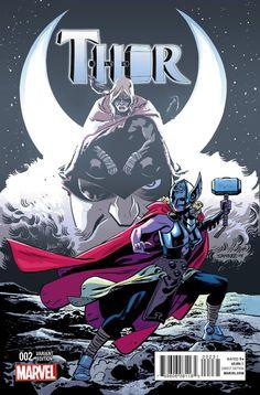 Thor / Samnee Variant Jane Foster holds Mjolnir / Marvel Comics 2014 / Selling Now! Comic Book Artists, Comic Book Heroes, Comic Books Art, New Thor, Loki Thor, Thor Marvel, Marvel Women, Avengers, Thor Valkyrie