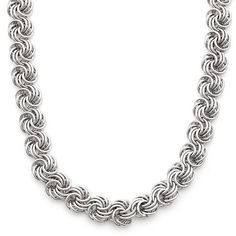 Gioelli Sterling Rosetta Necklace