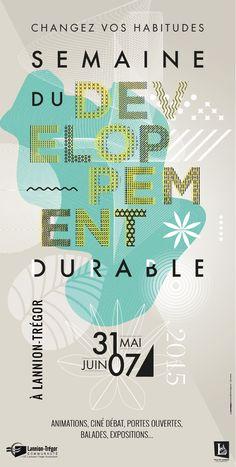 Affiche pour Semaine du Développement Durable 2015, à Lannion-Trégor. #typo #developpementdurable