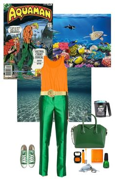 Aquaman by lj-case on Polyvore featuring polyvore, fashion, style, Michael Kors, Catch My i, Converse, Givenchy, Kate Spade, Ralph Lauren, Wet Seal, shu uemura, China Glaze, WALL and clothing