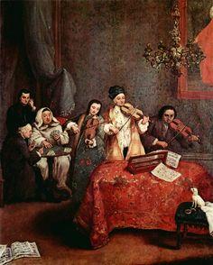 Pietro Longhi (1702-1785) - Kleines Konzert